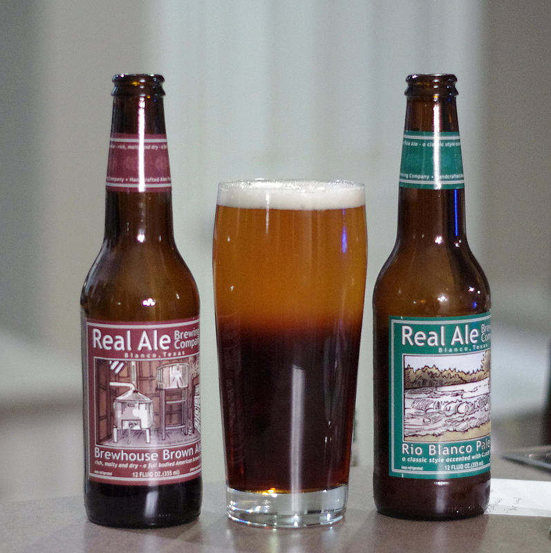 Real ale black and tan beer