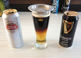 Stella and Guinness black and tan
